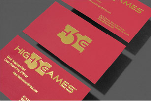 Metallic Business Cards Metallic Finish Gold Foil ZTOONE